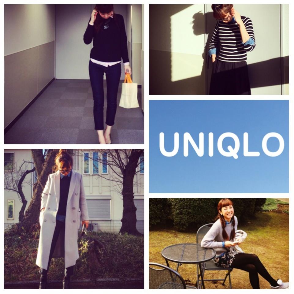 ユニクロのシャツは冬~春まで着れちゃう優れもの★真冬は+UNIQLOシャツでオシャレを楽しもう♪_1