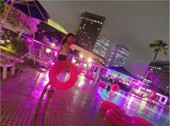 【都会で味わう非日常♡】ホテルニューオータニ幕張のナイトプールへGO!