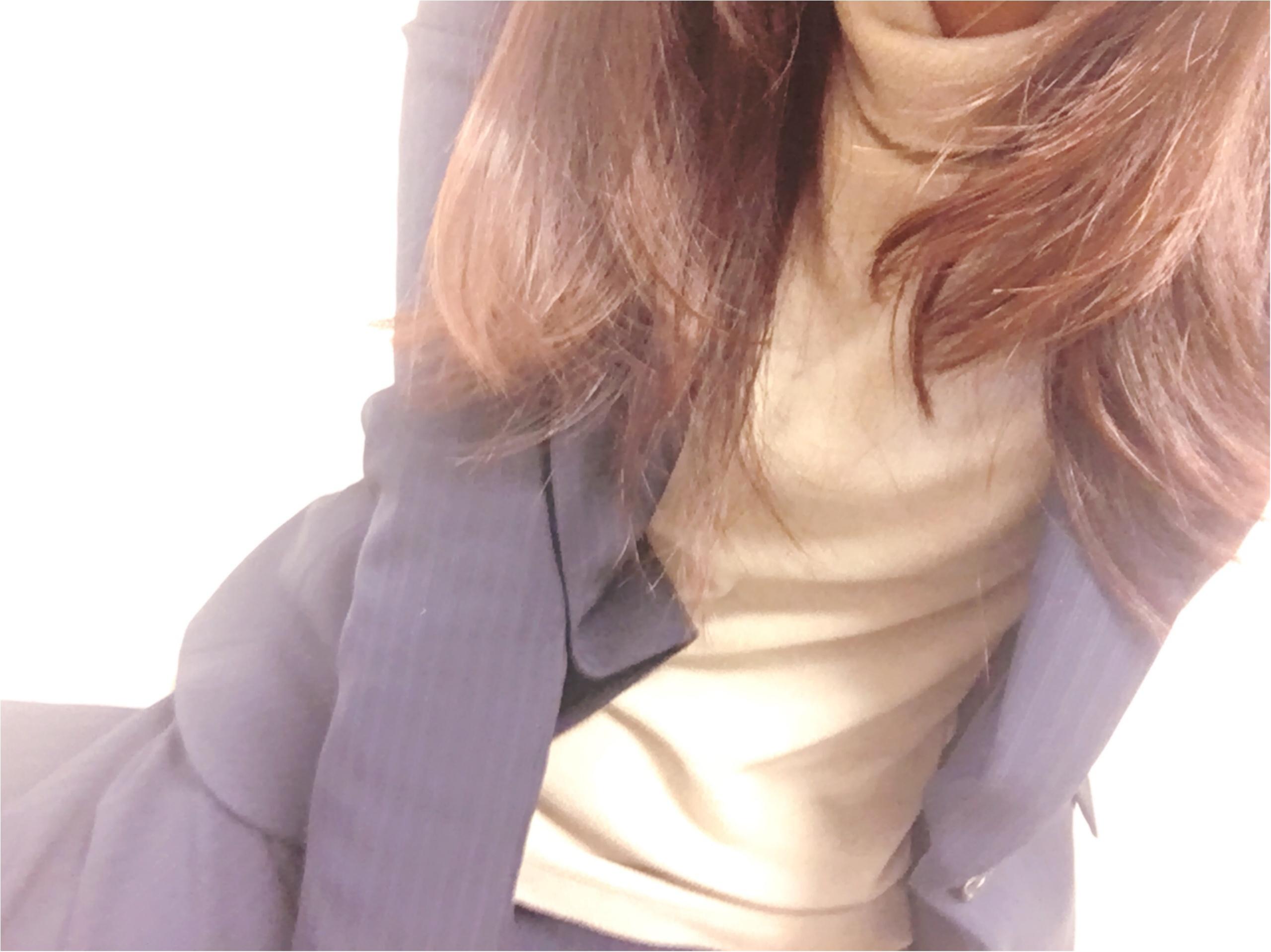 UNIQLOヒートテックフリースタートルネックTが通勤服にも使える!♡_5