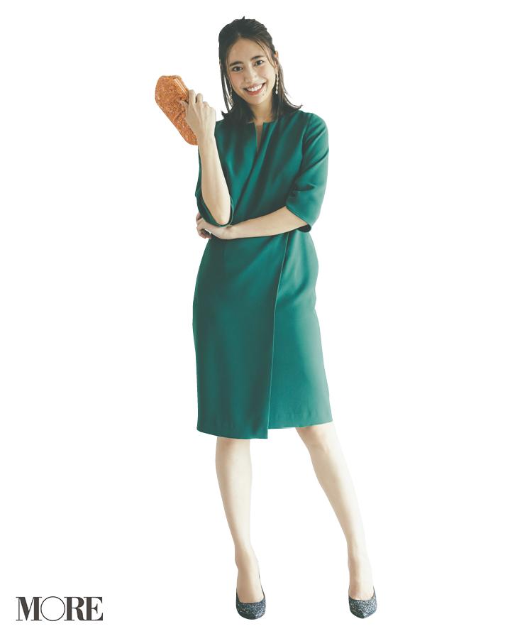 秋もお招ばれ服はベリーカラー&グリーンが今どき! マナーを守って大人に、おしゃれに♡_2_5