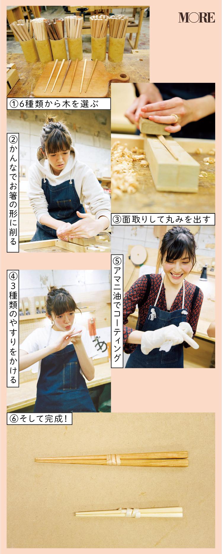 佐藤ありさと、『Makers' Base Tokyo』で箸作り! 可愛すぎる姿に惚れ惚れ。【佐藤栞里のちょっと行ってみ!?】_2