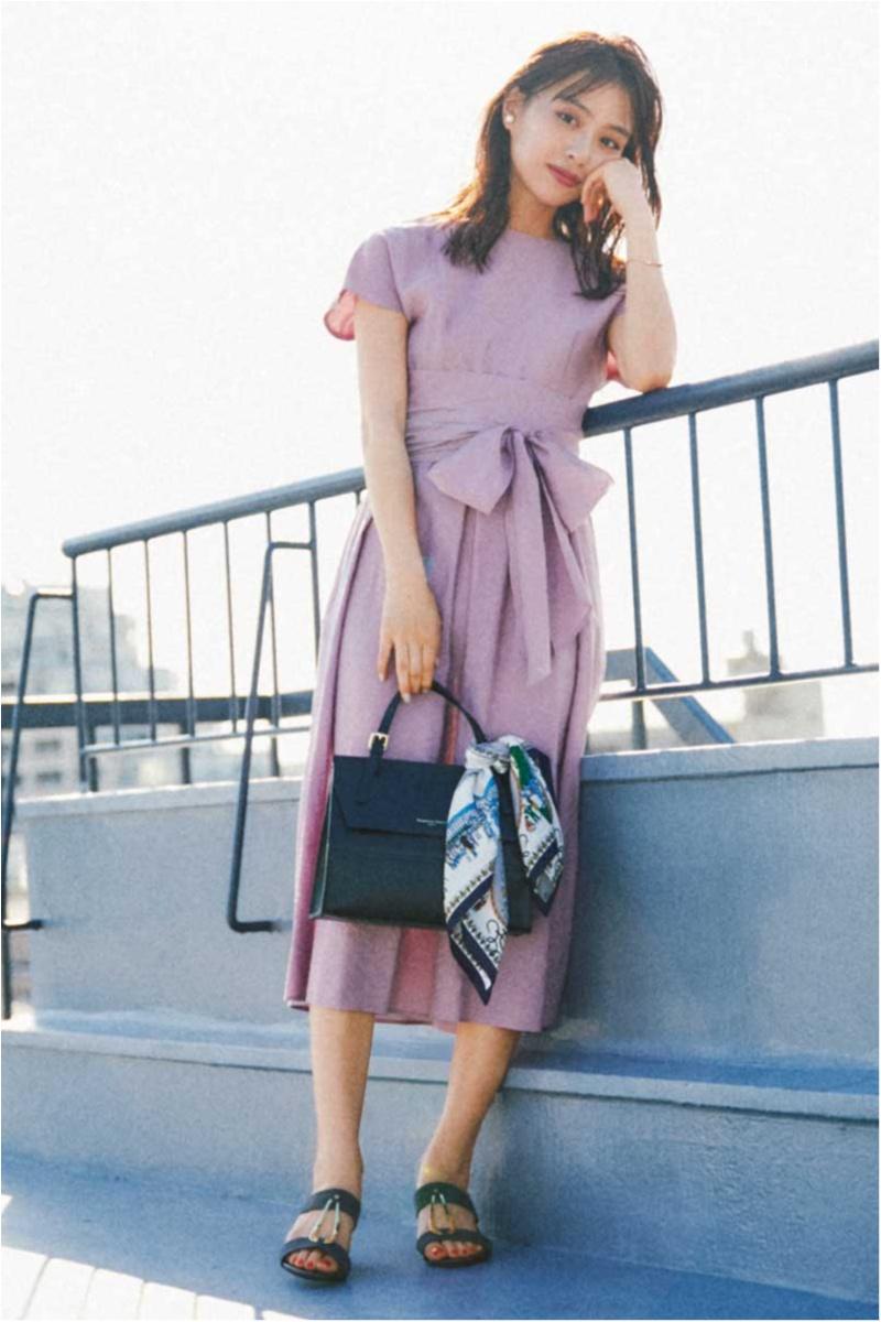 【今日のコーデ】風の強い日。大人ピンクのワンピで女子力高めてツキを呼び込む♡_1