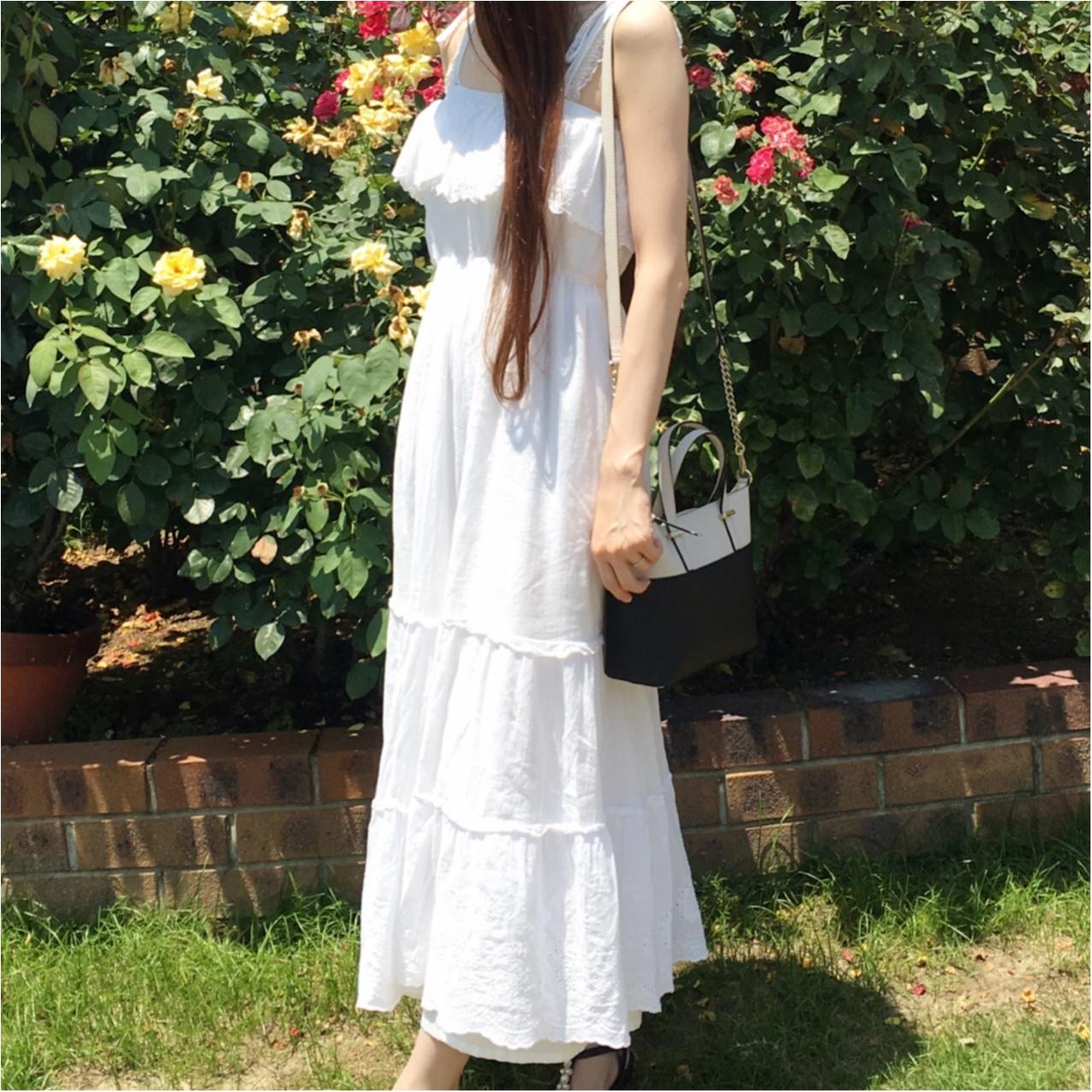 夏コーデの主役は《 ホワイト 》で決まり♡マキシワンピースで爽やかオシャレに♡_2
