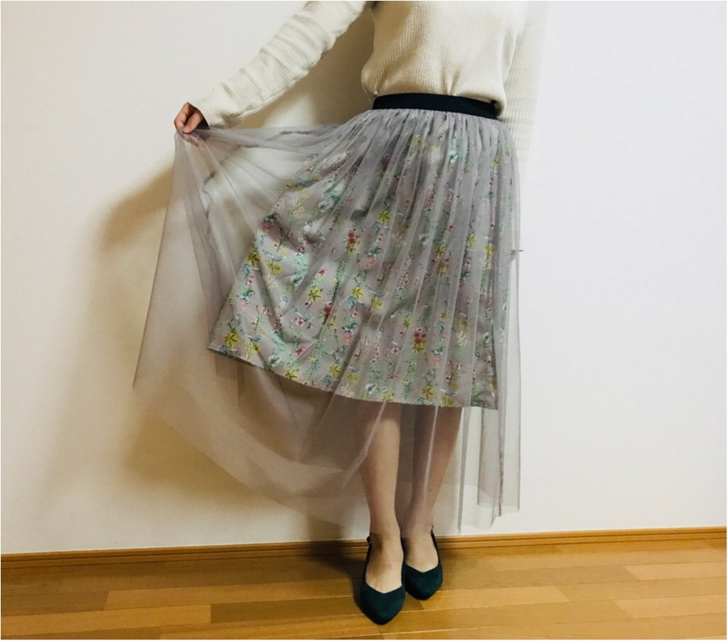 """春コーデに""""透け感""""は必須!【N.Natural Beauty Basic】の《チュールスカート》で春コーデを組んでみました♡♡_2"""