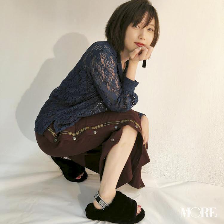女優でもある本田翼はUGGのファーサンダルがお気に入り