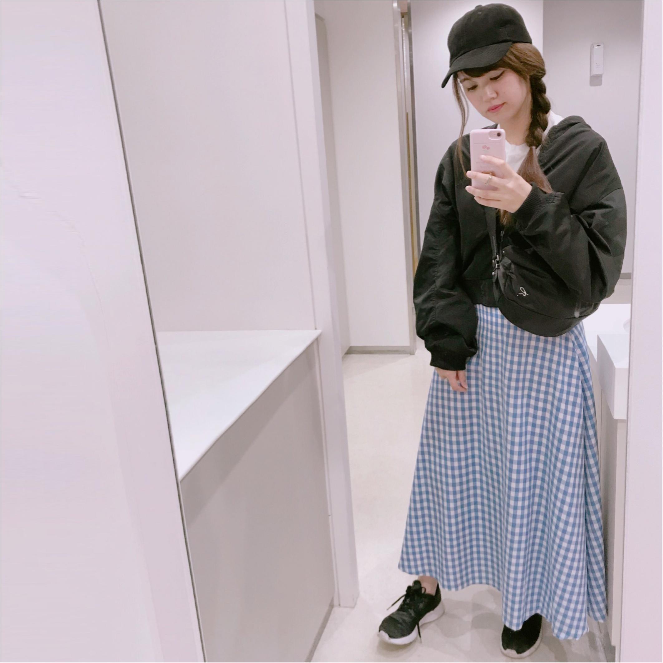 【GU】のギンガムチェックが可愛すぎる❤︎プチプラに見えないフレアスカートを購入しました!_2
