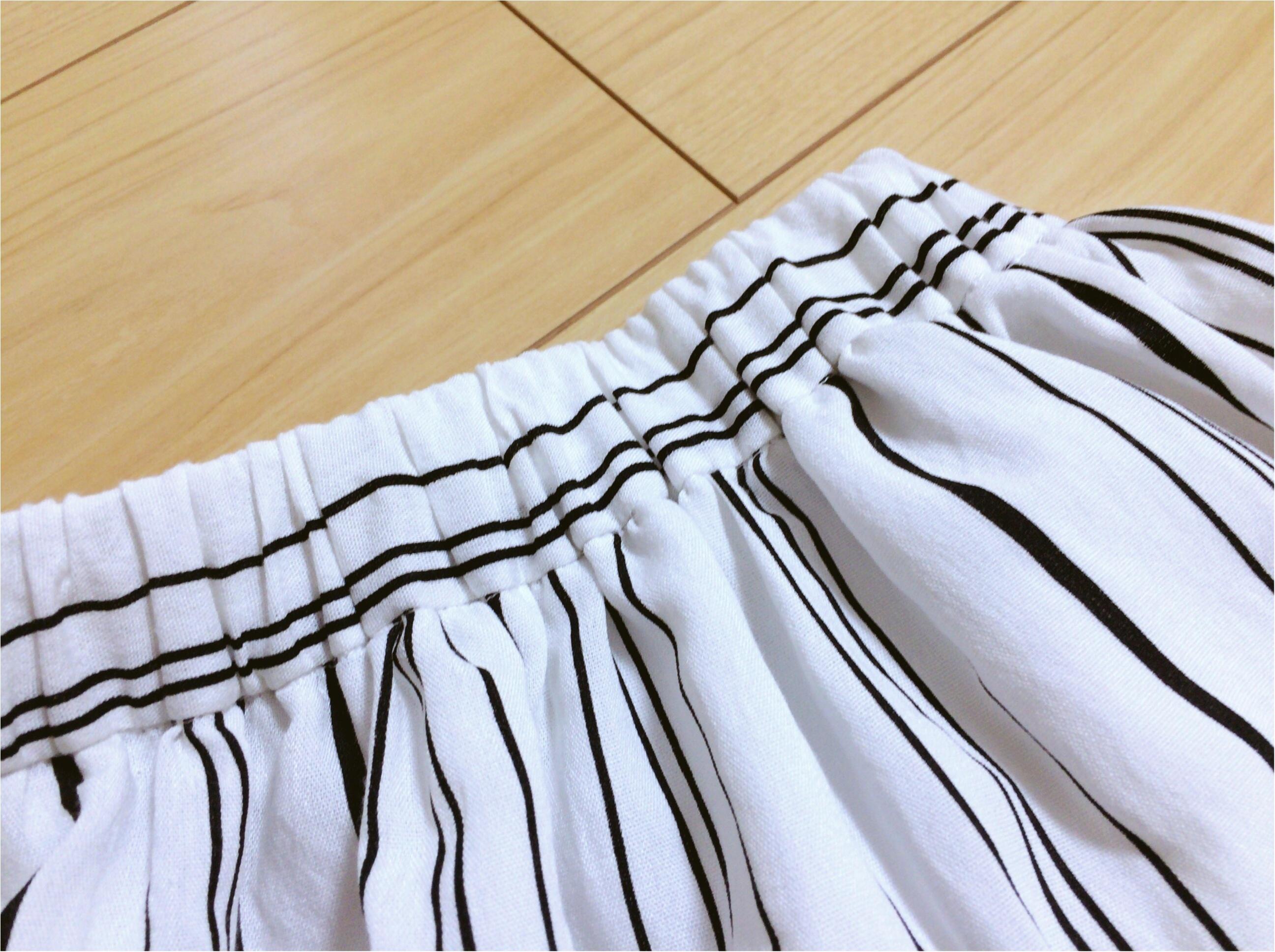 佐藤ありさコラボ服『FlowerDays』流行《ストライプ》リネン風スカートは着回しも着心地も楽チン!_5