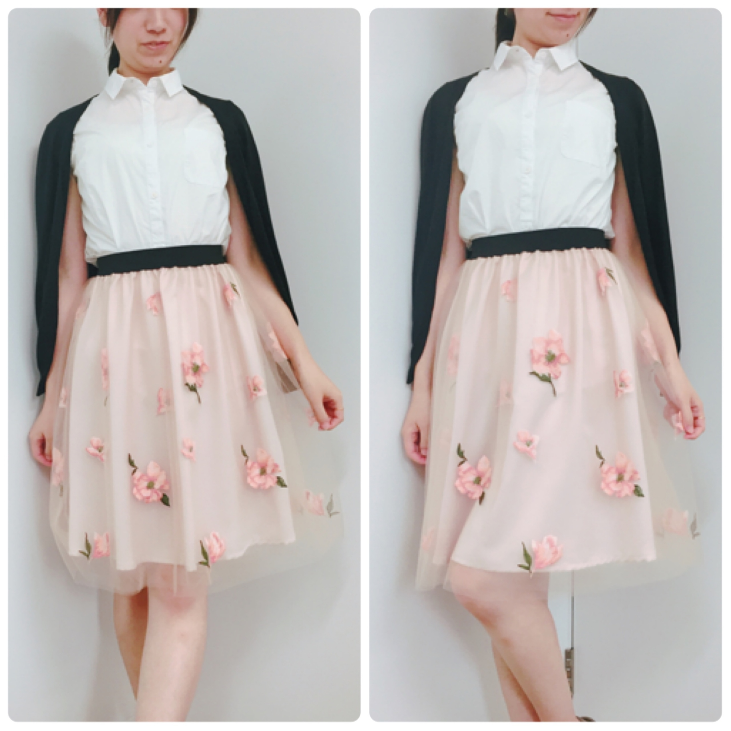 【31 Sons de mode/セール】たまにはフェミニンに♡刺繍入りチュールスカートが『70%』で驚きのプチプライスでした!_3