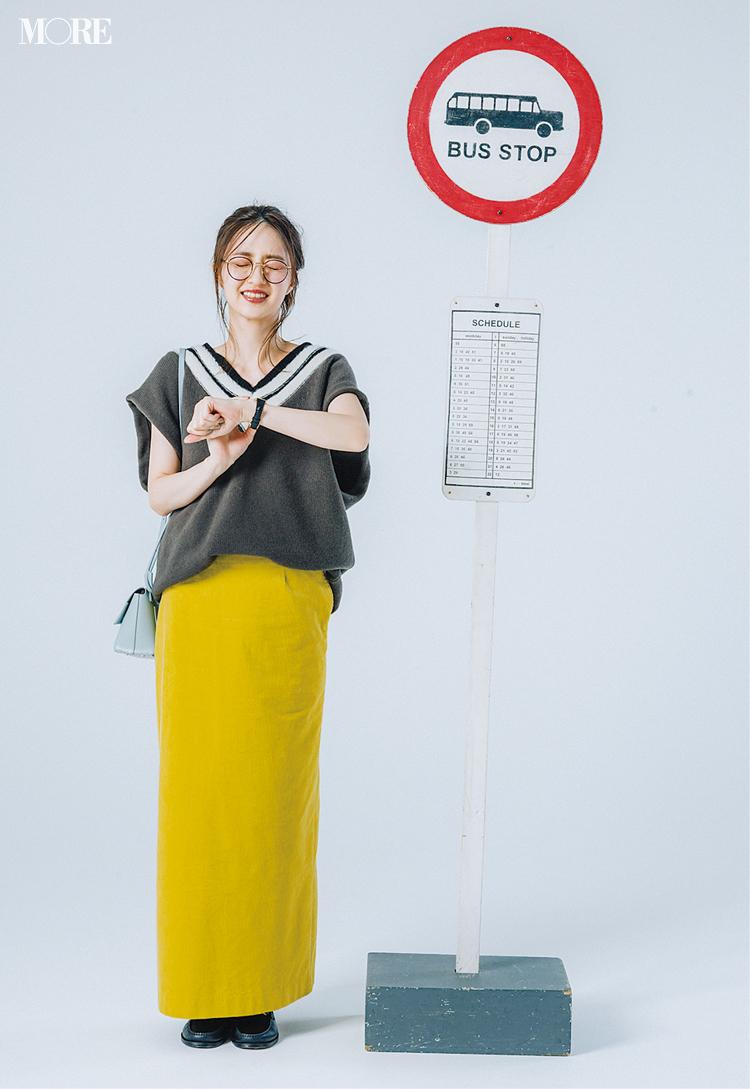 意外!? 黄色のロングタイトスカートがとにかく使える、5つの理由と5つの着回し例!_1