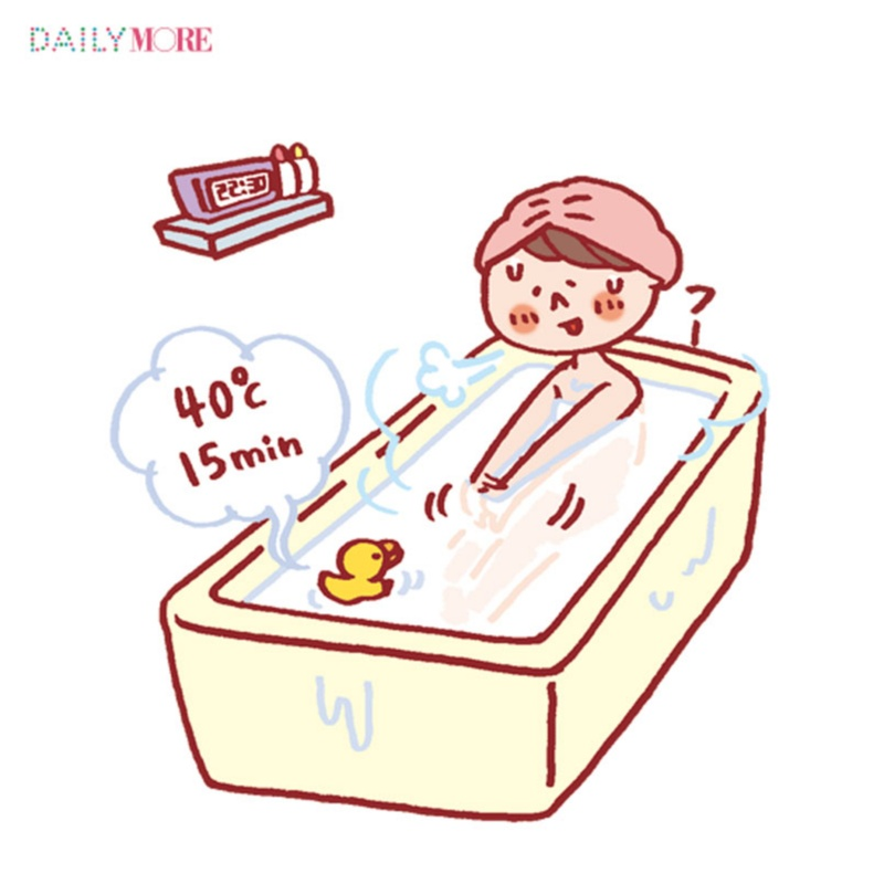 """眠る90分前に40度で15分入浴!など""""質のいい眠り""""のためのナイトToDoリスト♡_1_2"""
