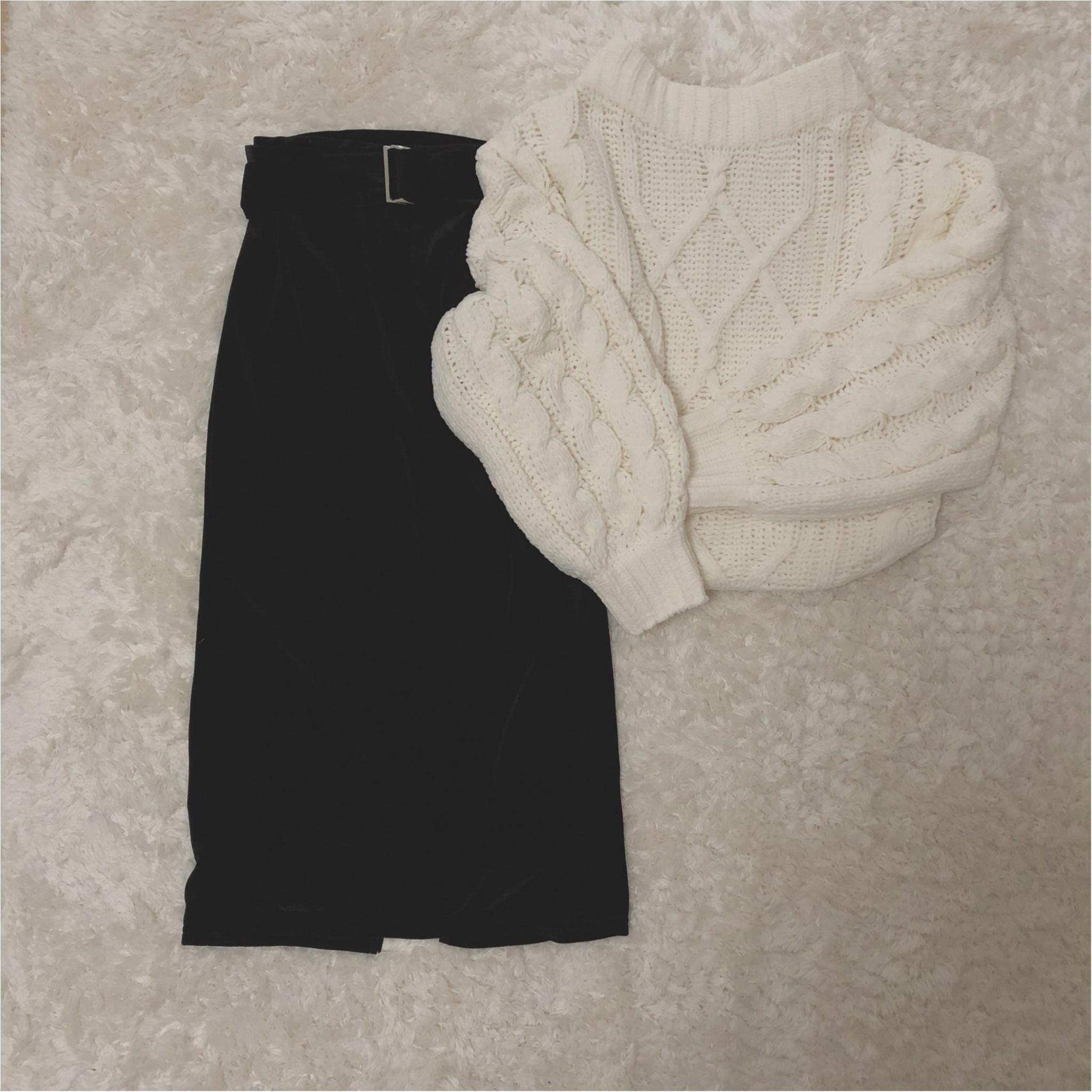 形が可愛い♡Knitが1990円?!冬のニットは【GU】で♡ ベロア素材のタイトスカートもプチプラ価格。_2