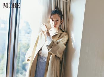 【今日のコーデ】スイーツの日は爽やかな甘さのラベンダー色スカートで話題のカフェへ♡ 〈佐藤栞里〉