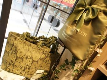 《京都ポルタ限定カラー❤️》【Maison de FLEUR】宇治色フリルハンドルトートバッグがかわいすぎる!