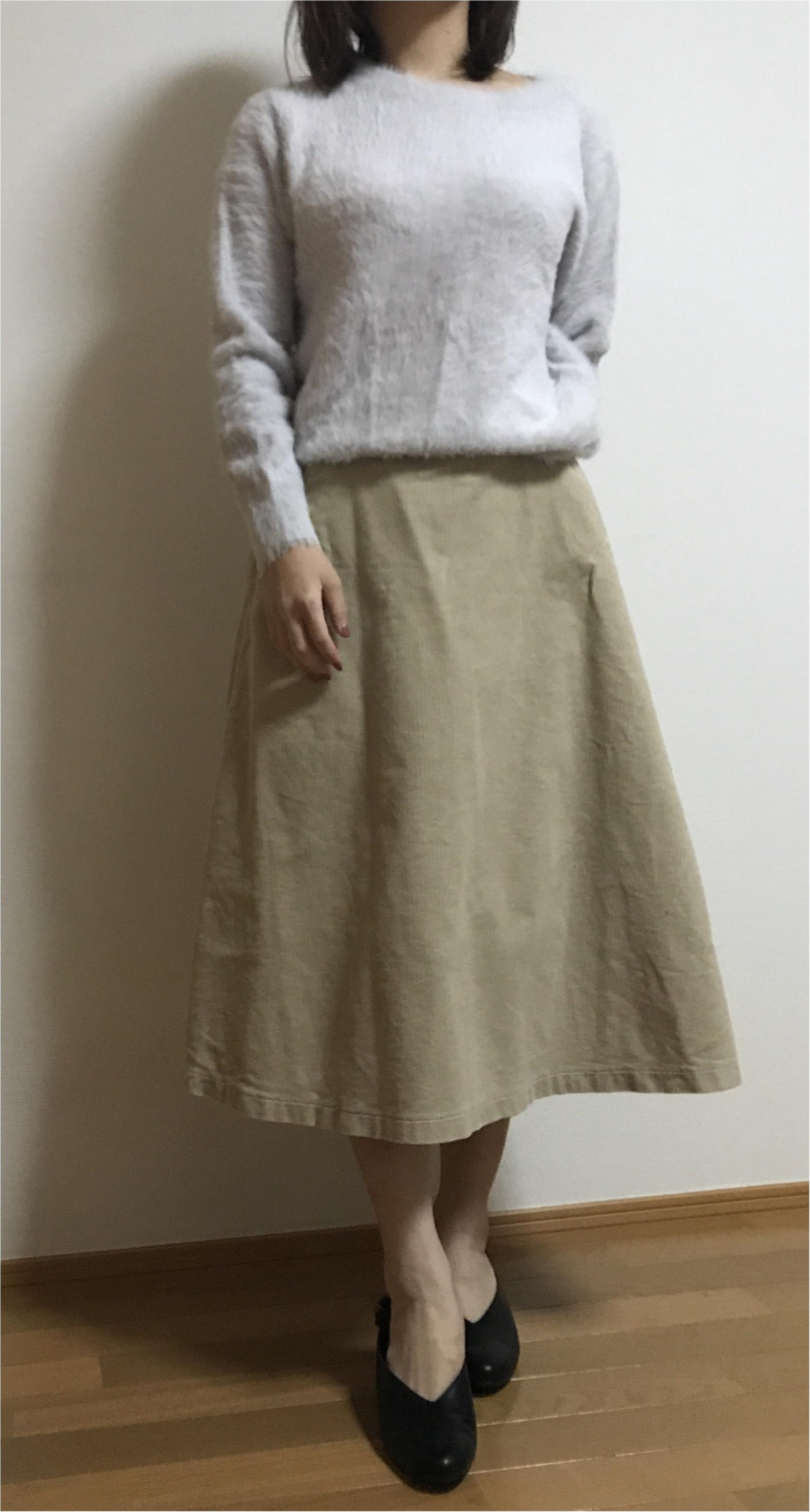 【ユニクロ】買ってよかった!まだまだ使える冬アイテム♡♡《コーデュロイスカート×ニット》の最強コーデを組んでみました❤︎_3