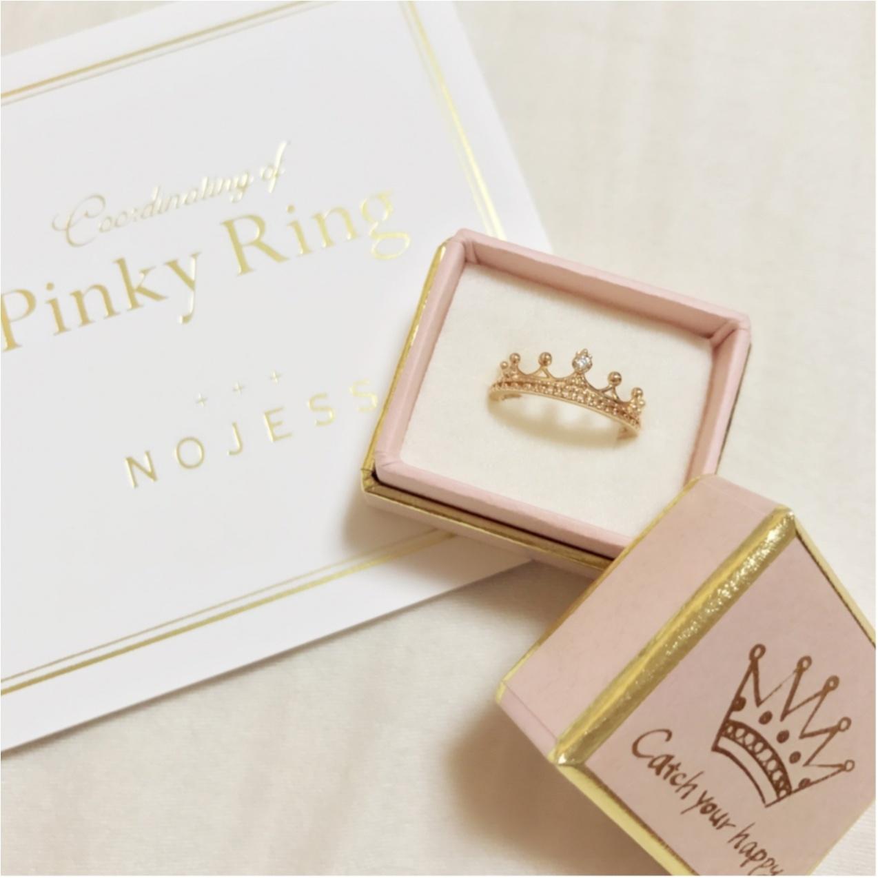 自分への誕プレは【NOJESS(ノジェス)】の誕生石ピンキーリング♡_3