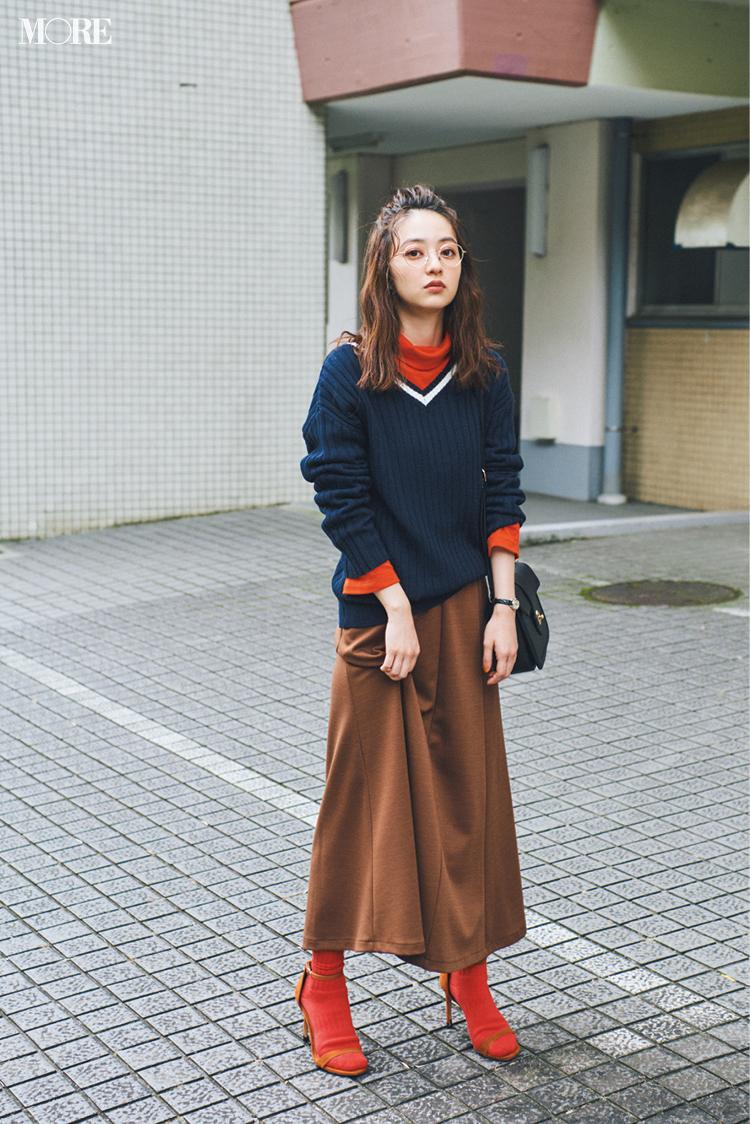 『GU』ならニットの重ね着が、1780円でこんなに素敵!! この秋はレイヤードをプチプラで♬_1