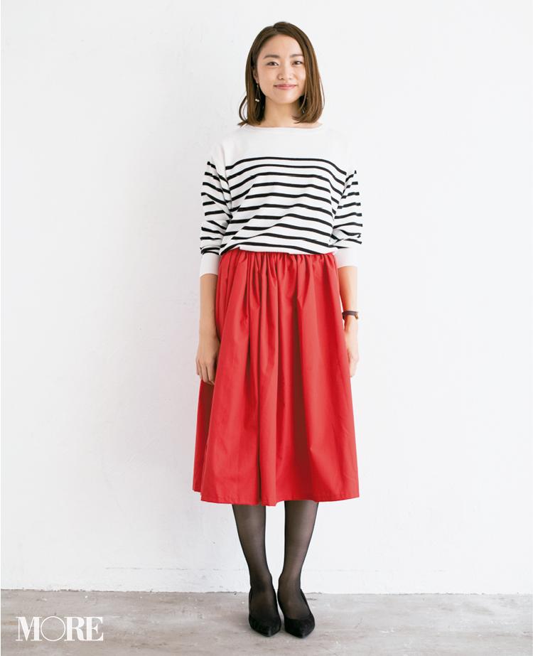 【読者変身】無難、甘すぎ、いつも同じ……きれい色スカートのお悩み、スタイリスト高野さんが解決します☆_5_1