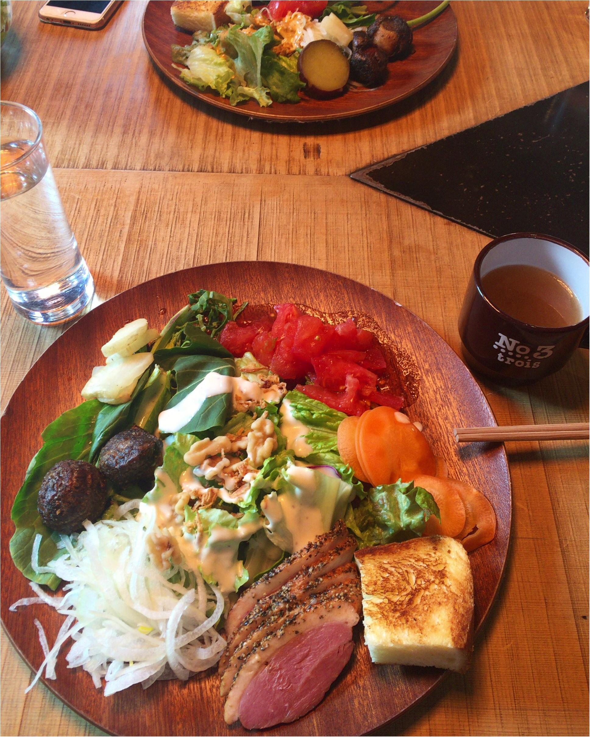 【恵比寿】オーガニック野菜を好きなだけ食べられるサラダランチが¥1,300!メインディッシュ+パン+スープ付き♡≪samenyan≫_10