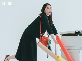 【今日のコーデ】<唐田えりか>週始めは上品なニットスカートのセットアップでお仕事モードに!