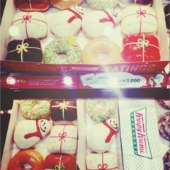 《☆先取りクリスマス☆》クリスピークリームの限定ドーナツ♡ 【no.321 りょう】