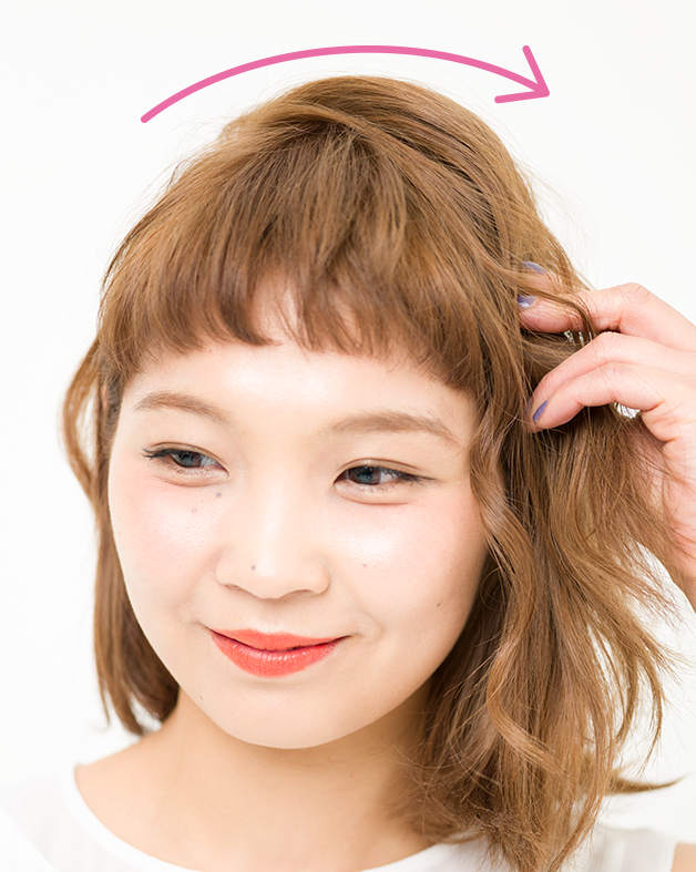 【美容師梅雨ヘアアレンジ】(3)ぺたんこヘアをレスキュー カール編み込みアレンジ_2