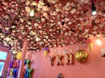 《本当に浅草?!》PINK×お花のかわいいカフェ発見♡
