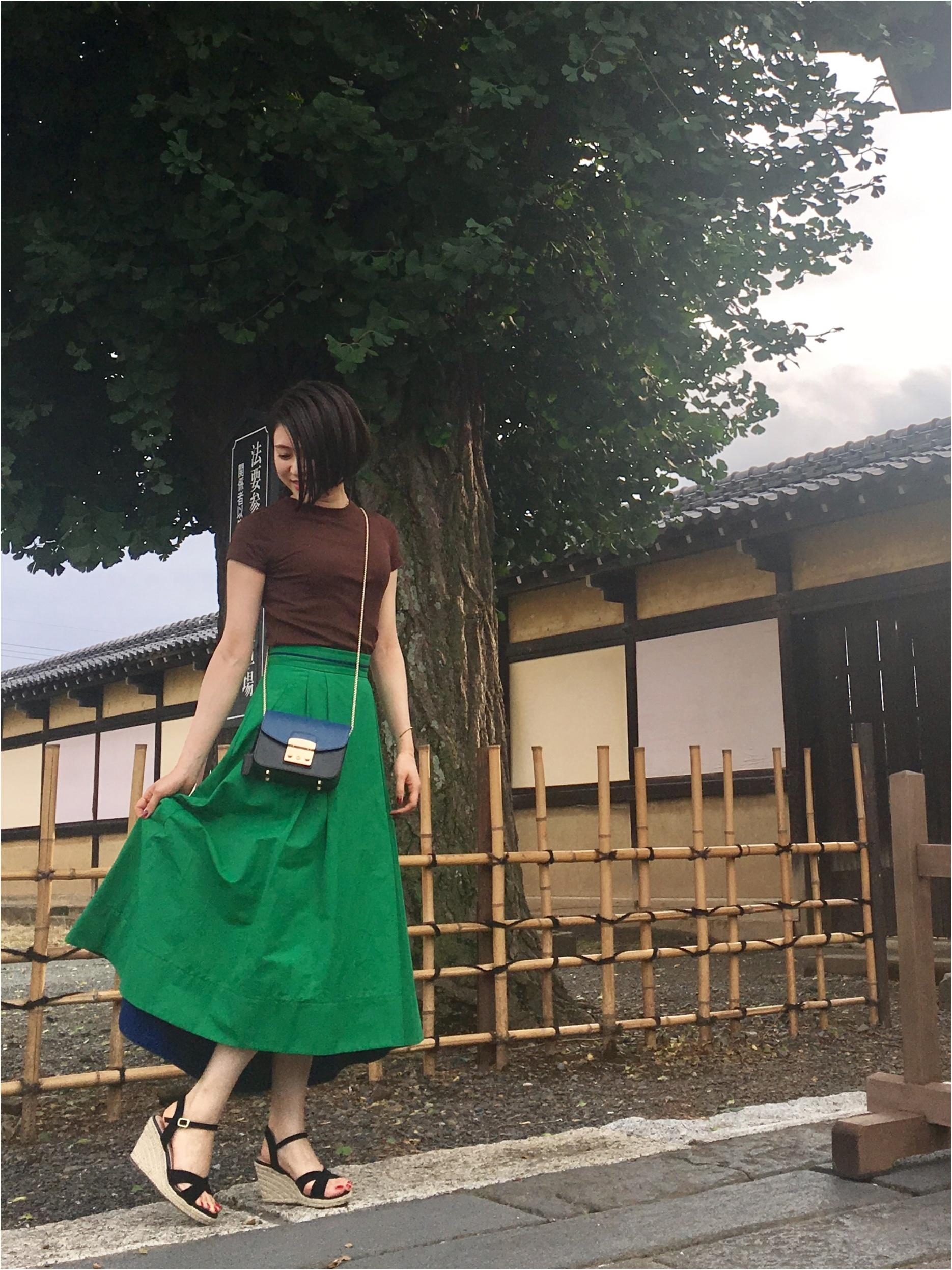 Coordinate...女性らしいふんわりスカートはTシャツで程よくカジュアルに☆_2