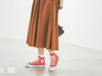 デート服の新定番は【ワンピ+スニーカー】! ローテクスニーカーで可愛さ2割増♡