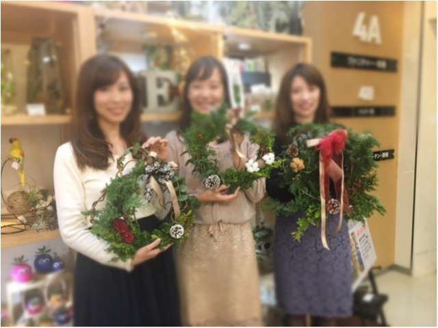 【DIY女子会❤︎】東急ハンズのワークショップでクリスマスリースの手作り体験!_2