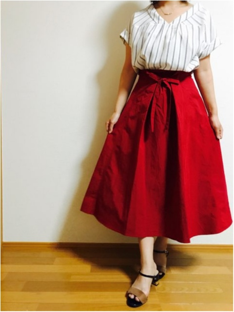 【index】2wayで着られる《リボン付きフレアスカート》着回しやすさ◎です!_1
