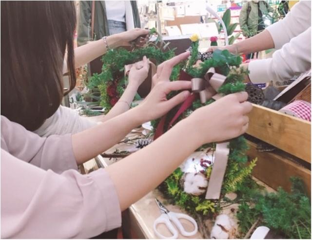 【DIY女子会❤︎】東急ハンズのワークショップでクリスマスリースの手作り体験!_1