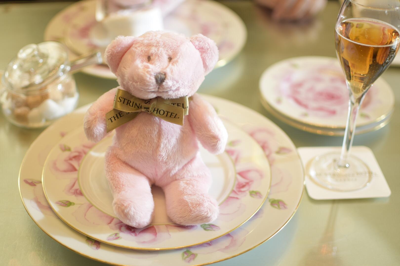 【名古屋】サーウィンストンホテル 幸せのピンクベア付きいちご&ローズアフタヌーンティー_2