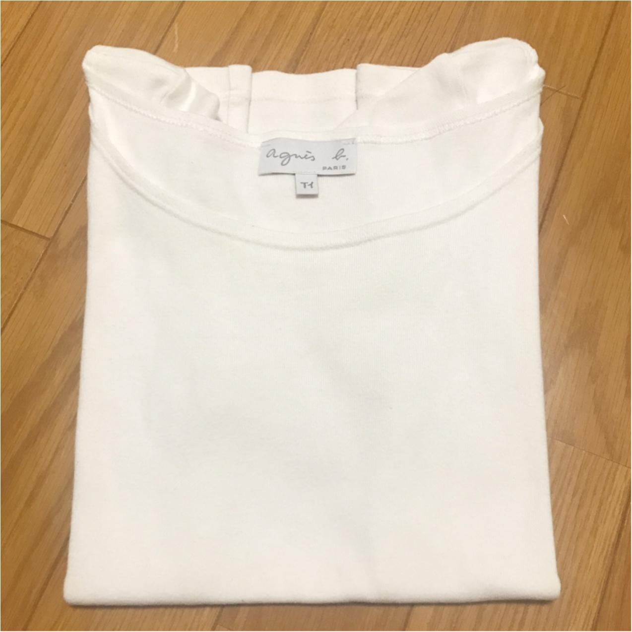 【agnes b.】きれいめにもカジュアルにも。一生モノの《白Tシャツ》!_3