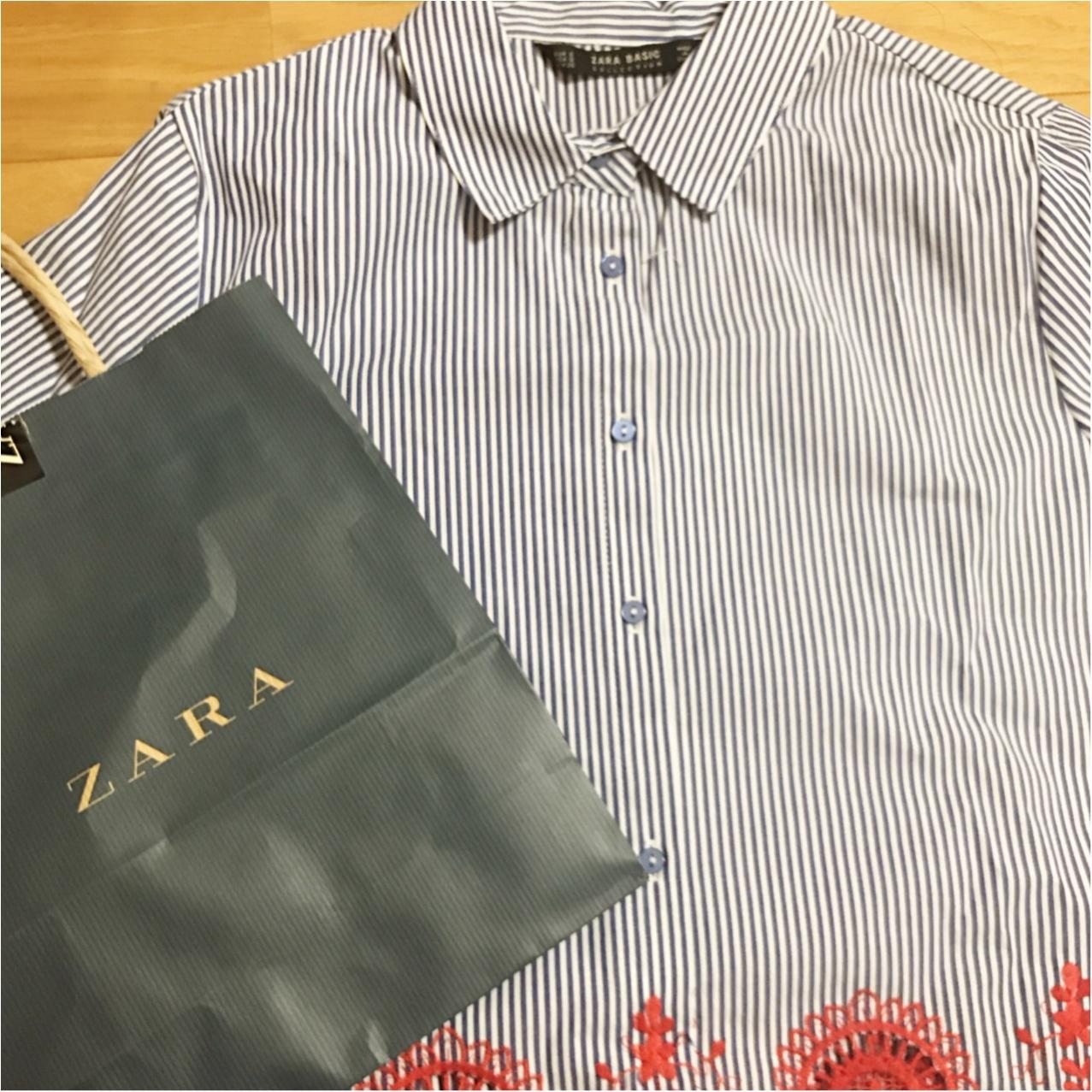 """刺繍 × ストライプにひとめぼれ♡【ZARA】で出会った""""自由になれるシャツ""""_1"""