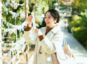 【今日のコーデ】初詣はタートルニットの重ね着&白コートで可愛げも防寒対策もばっちり! <唐田えりか>