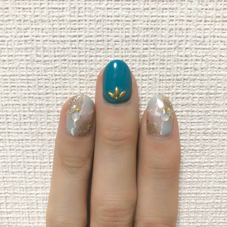 【夏ネイル】見た目-3℃!な爽やかブルーのデザインにチェンジ♡_2