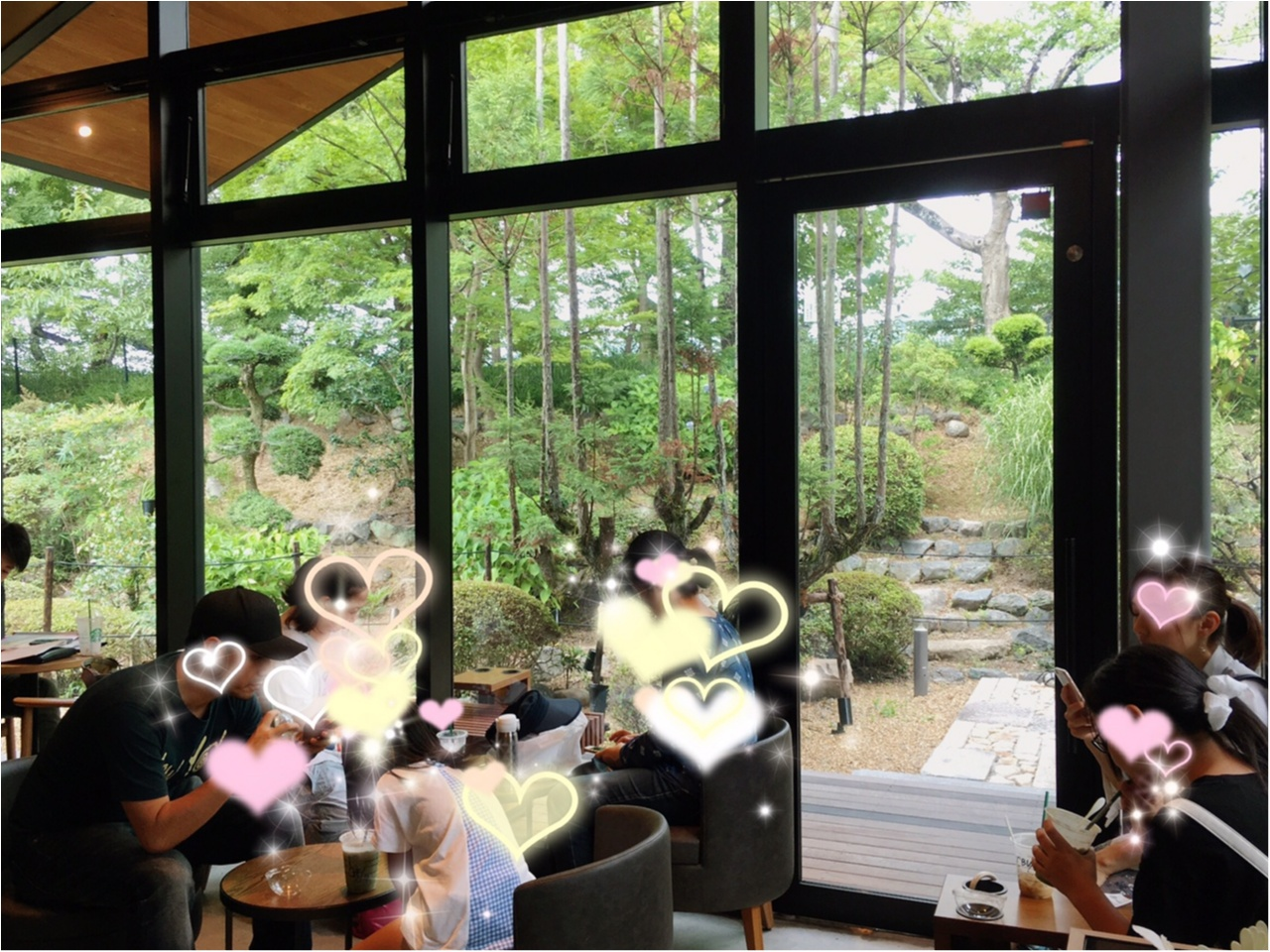 本当は教えたくない♡京都なのに空いてて、日本庭園で飲める!穴場の【スタバ】があるんです(*°○°*)_5