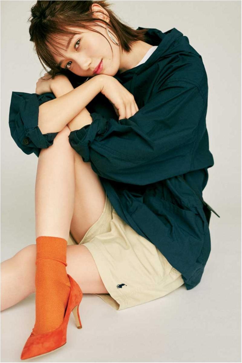 本田翼,メンズ服,ショートパンツ,夏,服,ばっさー,ファッション,コーデ
