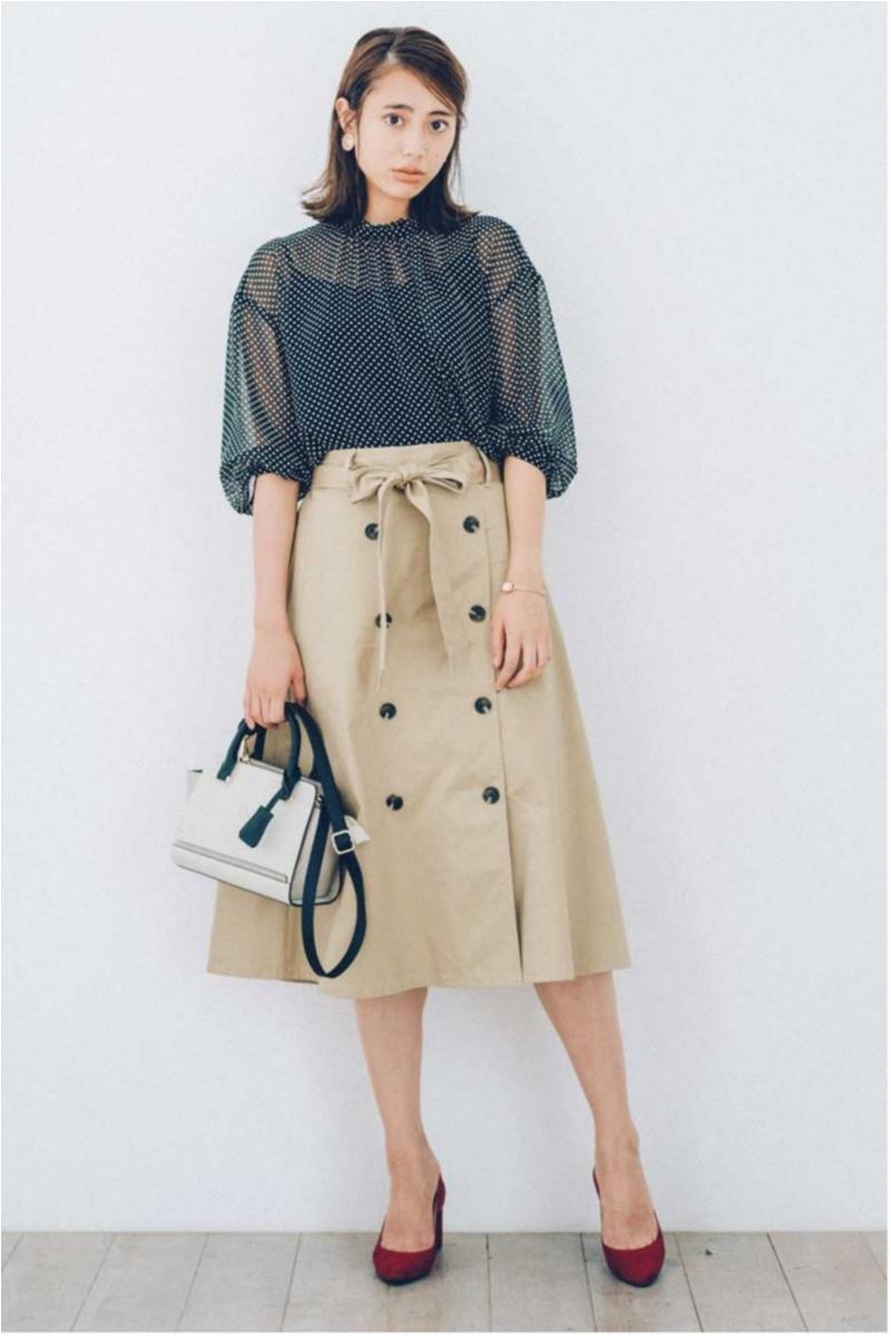 GU,スカート,トレンチコート,トレンチスカート,仕事服