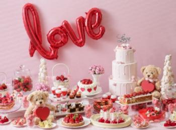 「恋するいちご バレンタインデザートブッフェ」には、いちご・ハート・ベアをモチーフにしたスイーツがいっぱい! 【 #いちご 1】
