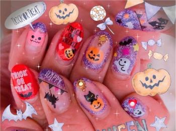 Halloween☆Nail 第二弾〜〜ネイルもHalloweenに!
