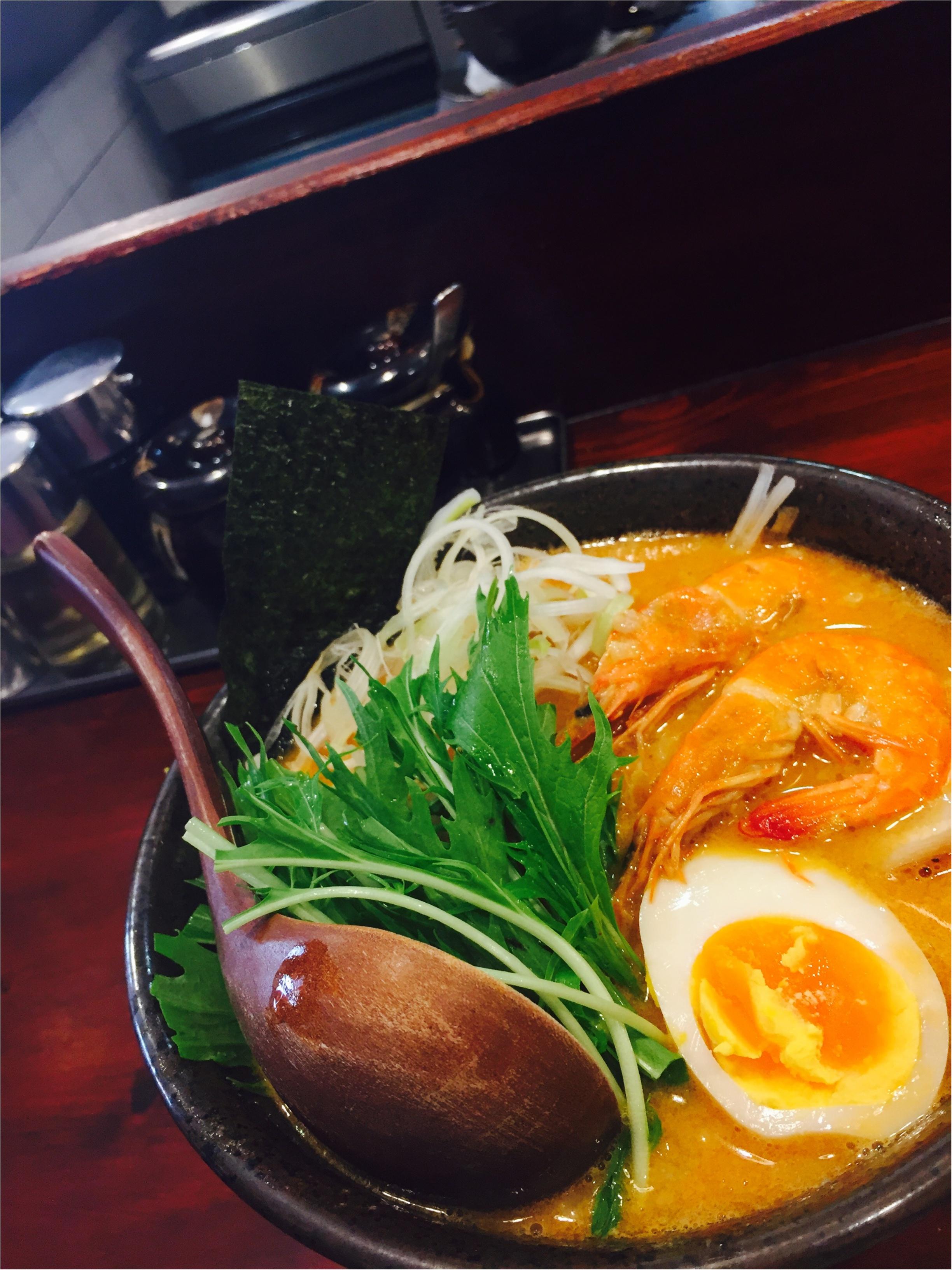 …ஐ たま〜に美味しいラーメン食べたくないですか?高円寺の海老味噌ラーメンが美味しすぎるஐ¨_1