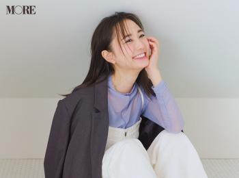 【今日のコーデ】<鈴木友菜>サロペットにきれい色の透けるカットソーを仕込んでカジュアルコーデを格上げ!