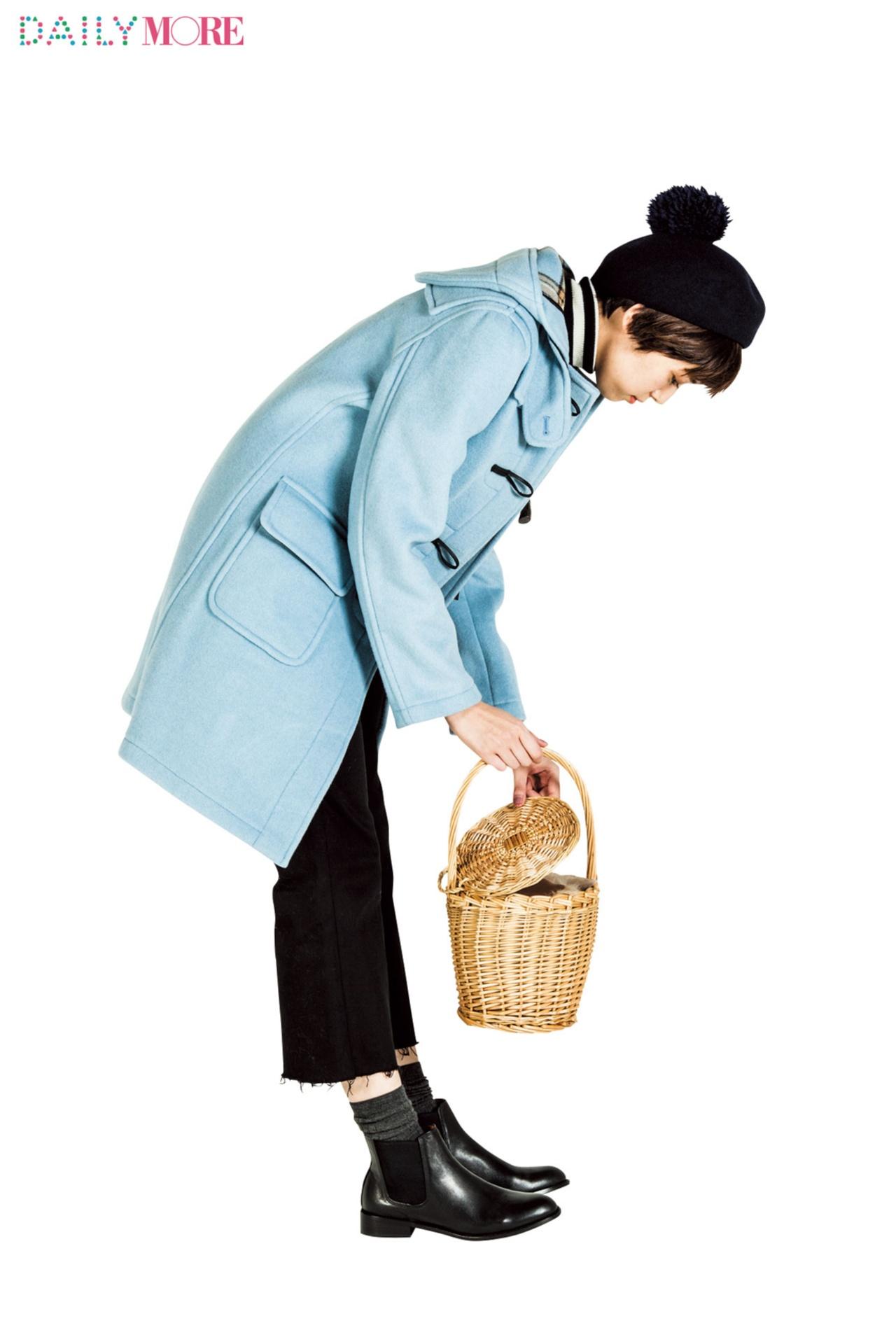 【今日のコーデ/佐藤栞里】モノトーンコーデを格上げしたい月曜日はコートの色を印象的に!_1