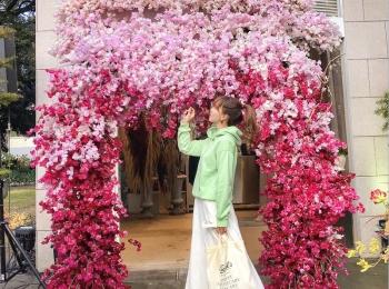 カメラ女子、お花好き集合! 「日比谷花壇 日比谷公園店」に、3日間限定のフラワーフォトスポットが登場中♡