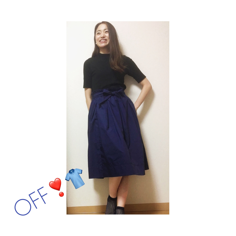 【UNIQLO】夏に向けていま買い足したい❤︎!ハイウエストベルテッドフレアミディスカート✨_3