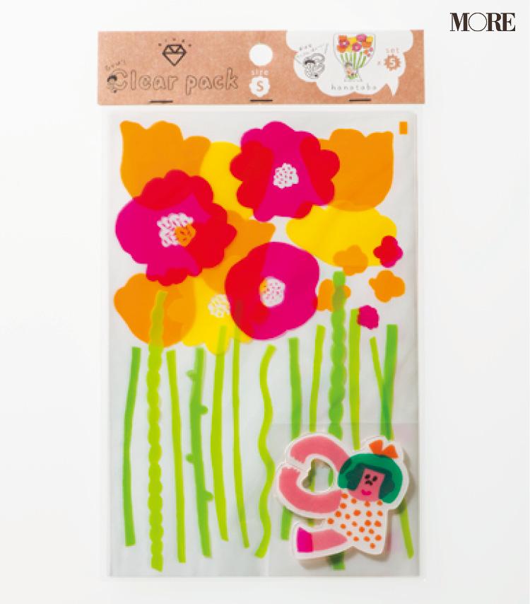 花束をモチーフにしたラッピングアイテムに胸きゅん♡ AIUEO『clear pack はなたばS』【こちら、三戸文房具堂。】_4