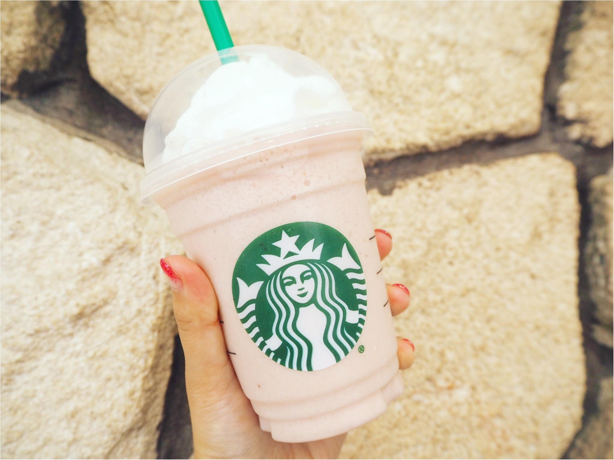 【スタバ】ピンクなストロベリークリームフラペチーノがかわいすぎ♡♡_3