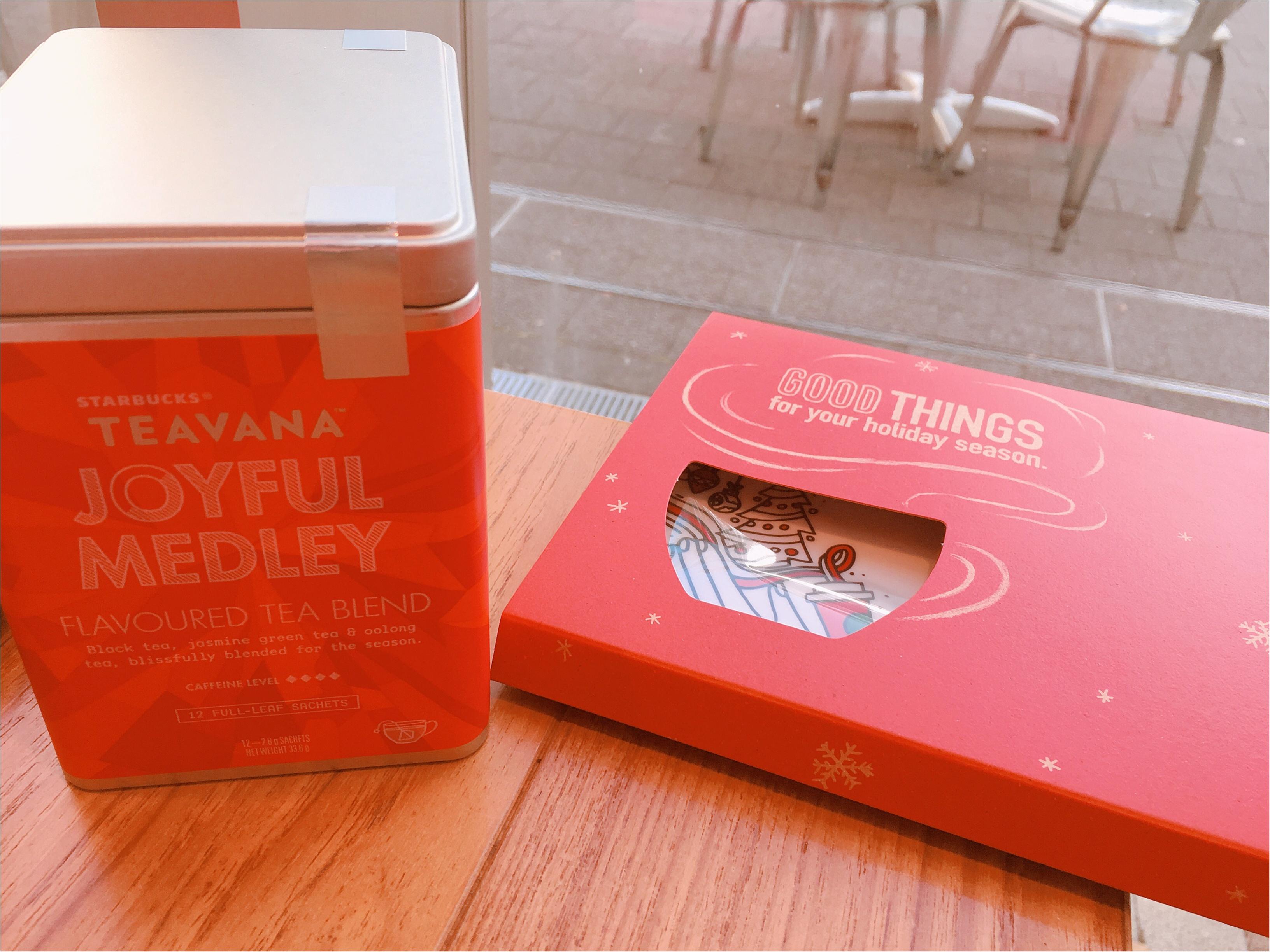 【スタバ】『キャンディーピスタチオ』『クリスマスラズベリーモカ』始まりました!TEAVANA購入特典トレーもプレゼント開始♡_3
