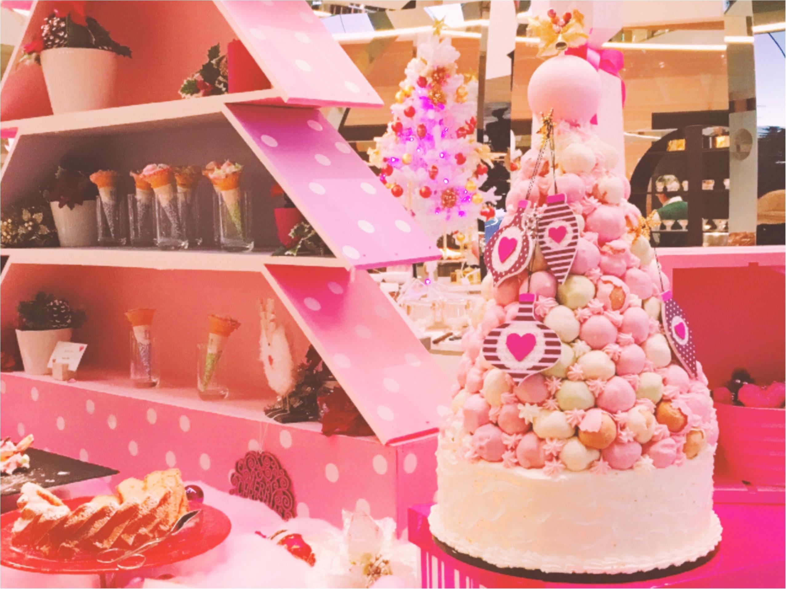 ヒルトン東京ベイ【ピンク・クリスマス】ビュッフェがかわいすぎる!_1
